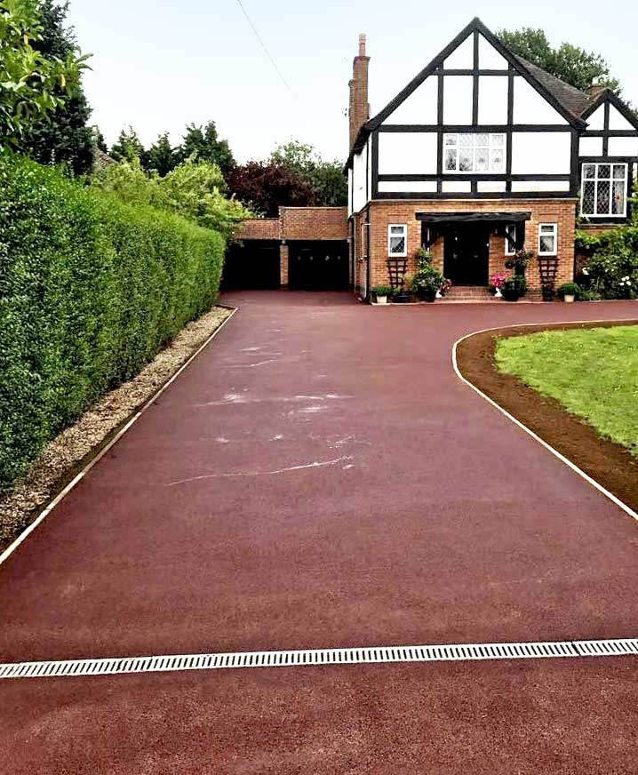 Red Tarmac Driveway by Raybell and Sons