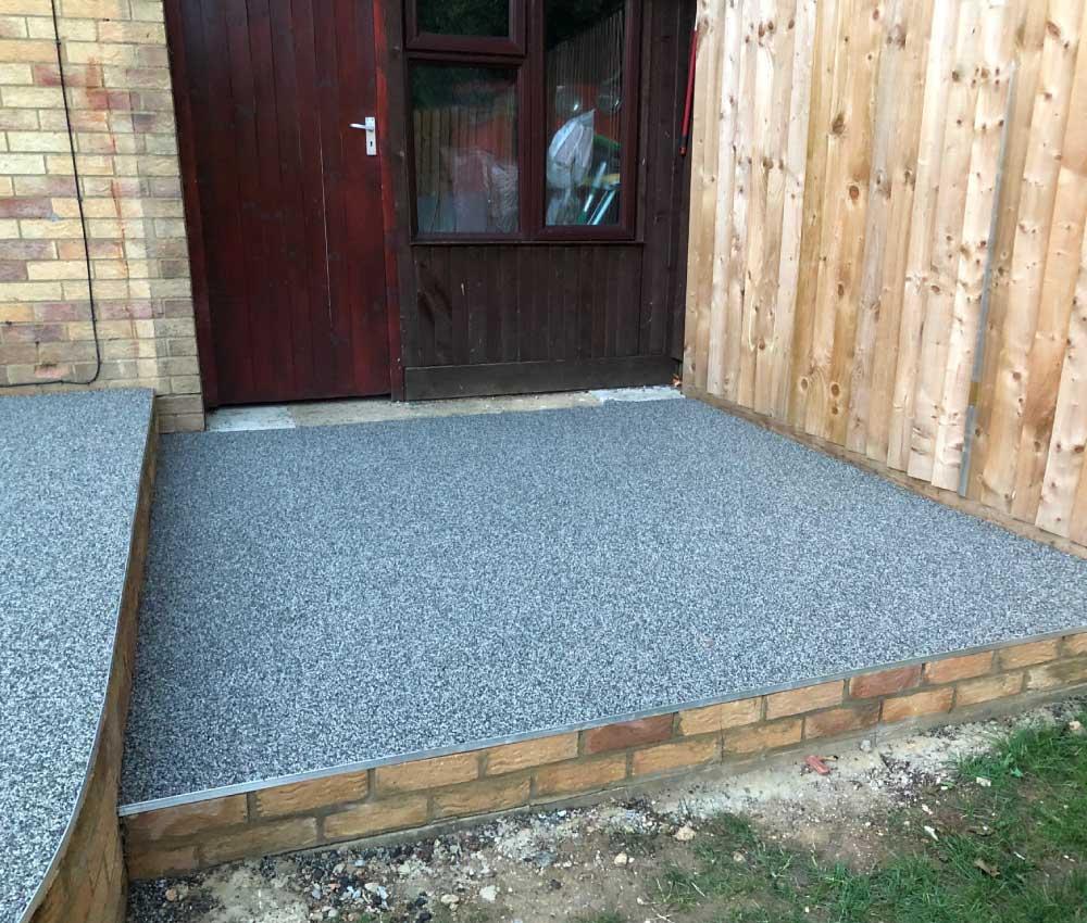Grey Resin Bound Gravel Back Door