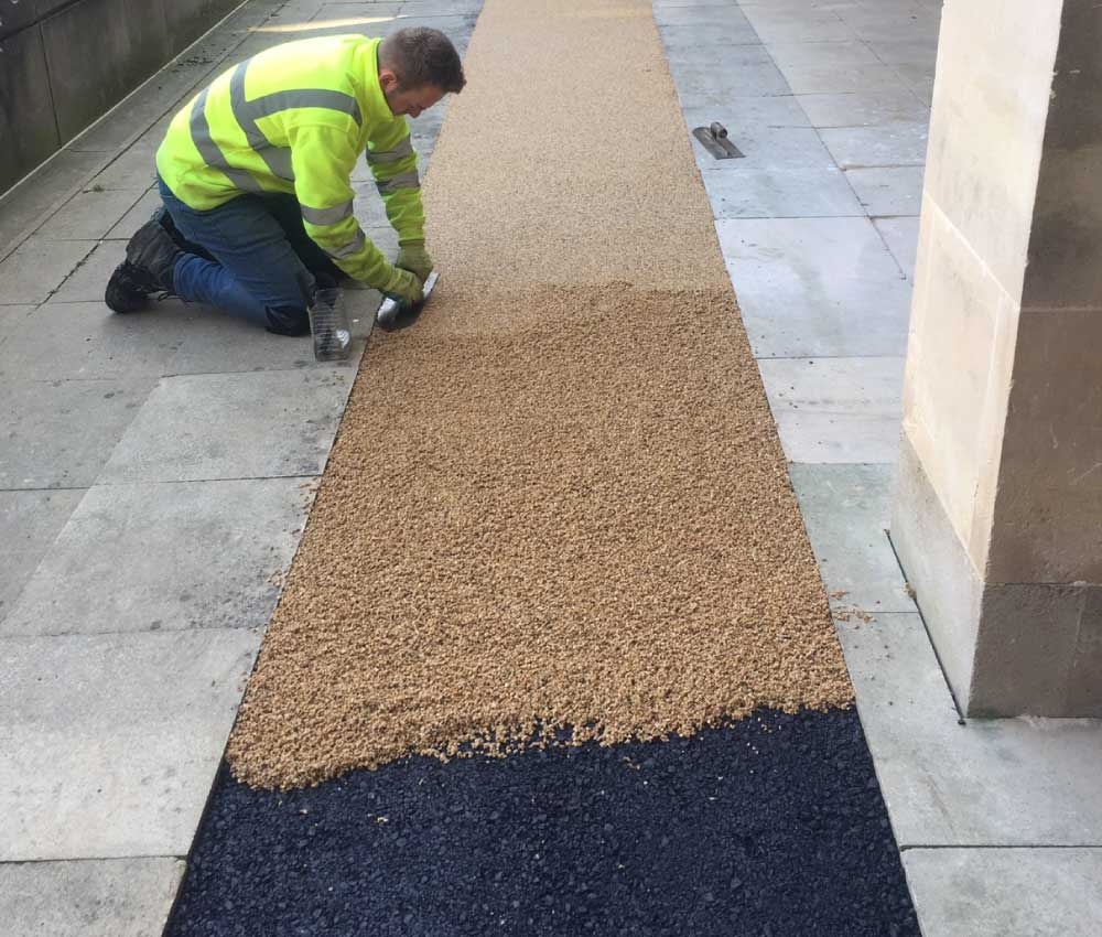 Resin Bound Gravel Footpath During Construction