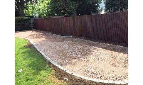Resin Bound Gravel ground preparation