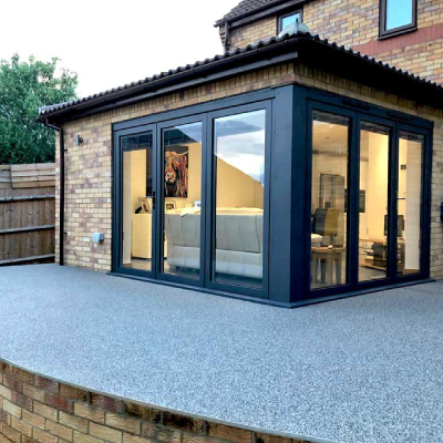 grey resin bound patio